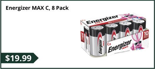 Energizer MAX C, 8 Pack